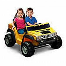 Buy Kid Motorz Hummer H2 Two-Seater 12-Volt Ride-On in Yellow