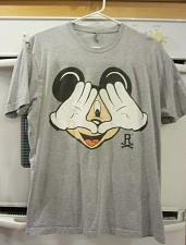 Buy Resist & Rebel Mickey Mouse Micky illuminati Gray T-Shirt Unisex Large L
