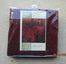 """Buy Target home Maroon With floral & gold accents 60"""" x 84"""" Oblong Tablecloth"""
