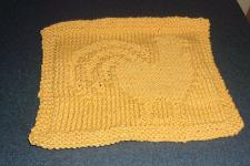 Buy Brand New Hand Knit Yellow Rooster Dish Cloth For Cocker Spaniel Rescue Charity
