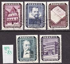 Buy ÖSTERREICH AUSTRIA [1953] MiNr 0989-93 ( O/used )