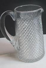 Buy American Brilliant Period Cut Glass Pitcher strawberry diamond Antique