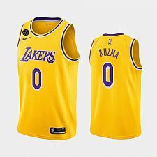 Buy Men's Los Angeles Lakers #0 Kyle Kuzma Gold Icon Forever Kobe Jersey