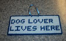 Buy Cute Needlepoint Dog Sign Dog Lover Lives Here For Cocker Spaniel Rescue Charity