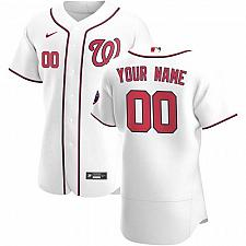 Buy Washington Nationals White Home Authentic Custom Patch Jersey