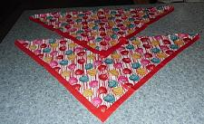 Buy Two Brand New Conversation Hearts Design Dog Bandanas For Dog Rescue Charity