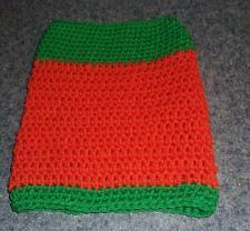 Buy Brand New Hand Crocheted Orange Green Dog Snood Neck Warmer 4 Dog Rescue Charity