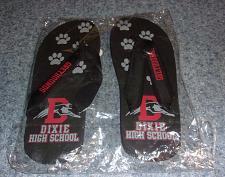 Buy Dixie Greyhounds Black Flip Flops MEDIUM New Lebanon Ohio For Dog Rescue Charity
