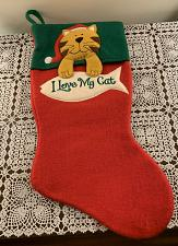 Buy Brand New Cat Christmas Stocking I Love My Cat Design For Dog Rescue Charity