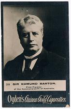 Buy Vintage Ogden's Guinea Gold Cigarettes Sir Edmond Barton Australia Tobacco Card