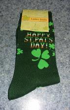 Buy Brand New Saint Patricks DayThemed Ladies Crew Socks For Dog Rescue Charity