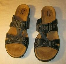 Buy Clarks Leisa Sandals Women's Black Leather 8 8.5 M Comfort Shoes