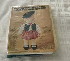 Buy Vintage 1982 MIP Advertising Campbell Kid Girl Doll Craft Kit Dog Rescue Charity