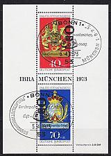 Buy GERMANY BUND [1973] MiNr 0766-0767 Block 9 ( Sonder-O/used ) Wappen