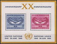 Buy UNO New York [1965] MiNr 0154-55 Block 3 ( **/mnh )