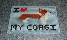 Buy Brand New Red and White Corgi Love Needlepoint Sign For Dog Rescue Charity