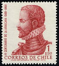 Buy Chile #414 Alonso de Ercilla y Zuniga; Unused No Gum (1Stars) |CHI0414-09
