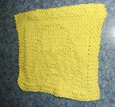 Buy Brand New Hand Knit Cocker Spaniel Yellow Cotton Dish Cloth 4 Dog Rescue Charity