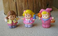 Buy Fisher Price Little People Lot of 3 Girls: with bird, with bottle & Easter Bunny