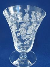 Buy Morgantown glass 811 etched peacock goblet Made in USA