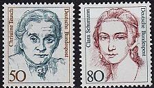 Buy GERMANY BUND [1986] MiNr 1304-05 ( **/mnh ) Frauen