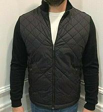 Buy Hugo Boss Shepherd Diamond Quilted Jacket Knit cotton Sleeves