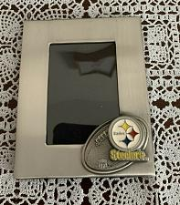 Buy Pittsburgh Steelers NFL Metal Photo Frame 4 x 5 Inch For Dog Rescue Charity