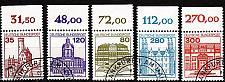 Buy GERMANY BUND [1982] MiNr 1139-43 A ( O/used ) [01] Bauwerke O-Rand