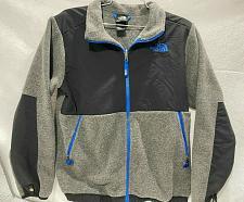 Buy The North Face Fleece in liner Jacket gray zip blue Boy's Size L 14/16
