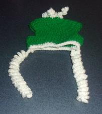Buy Brand New Crocheted Green White Dog Hat SMALL Dogs For Dog Rescue Charity