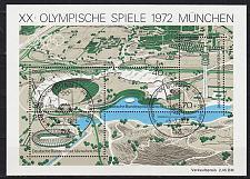 Buy GERMANY BUND [1972] MiNr 0723-26 Block 7 ( Sonder-O/used ) Olympiade