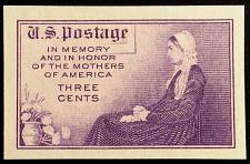 Buy 1935 3c Mother's, Imperforate Single Stamp issued without gum Scott 754 Mint NH