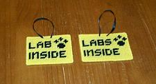 Buy Brand New Handmade Needlepoint Pet Emergency Sign LAB LABS 4 Dog Rescue Charity
