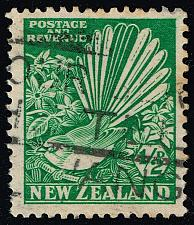 Buy New Zealand #185 Pied Fantail and Clematis; Used (1Stars)  NWZ0185-02XDP
