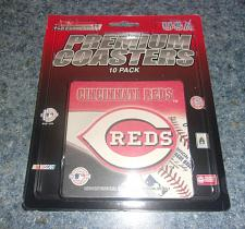 Buy Brand New Cincinnati Reds Premium Coasters Set of 10 For Dog Rescue Charity