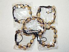 Buy Unisex Big Bead Mix Color Cz crystal 5 Bracelet 12m Disco Ball High quality