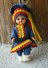 Buy VINTAGE DOLL NOITARUMPU ROVANIEMI FINLAND costume IN ORIGINAL BOX Sleepy eyes