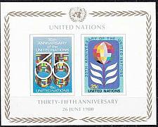 Buy UNO New York [1980] MiNr 0345-46 Block 7 ( **/mnh )