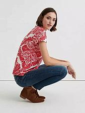 Buy Onate Design Tee Shirt Women`s NWT`s Medium Red and White