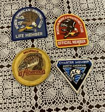 Buy Four Vintage Fisherman North American Fishing Club Hunting Club Member Patches