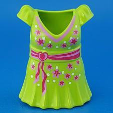 Buy Playmobil Take Along Fashion Store 9113 Green Pink Flower Snap-On Dress Outfit