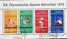 Buy GERMANY BUND [1972] MiNr 0734-37 Block 8 ( O/used ) Olympiade