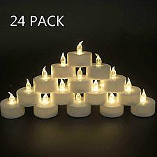 Buy Tappovaly Tea Lights,24 Pack Flameless LED Candles Battery Operated Tea lights