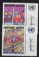 Buy UNO Genf [1983] MiNr 0117-18 Rand re ( **/mnh )
