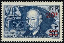 Buy France #414 Clement Ader; Unused (3Stars) |FRA0414-01XDP