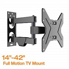 """Buy Fleximounts TV Wall Mount Bracket for most 17-42 inch TV Full Motion with 15.4"""""""