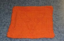 Buy Brand New Hand Knit Corgi Dog Orange Cotton Dish Cloth For Dog Rescue Charity