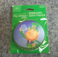 Buy Brand New Saint Patricks Day Flip Image Leprechaun Badge For Dog Rescue Charity