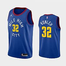 Buy Men's Denver Nuggets #32 Noah Vonleh 2021 Blue Statement Jersey