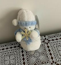 Buy Brand New American Greetings Stuffed Blue and White Snowman Plush Toy 6 In NWT
